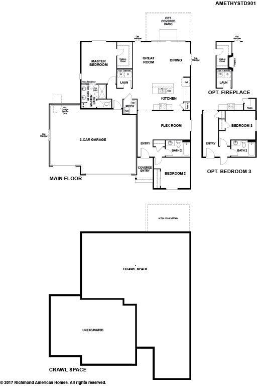 9703 Aberdale Court Amethyst Peyton Colorado 80831 Plan At Paint Brush Hills By Richmond American Homes