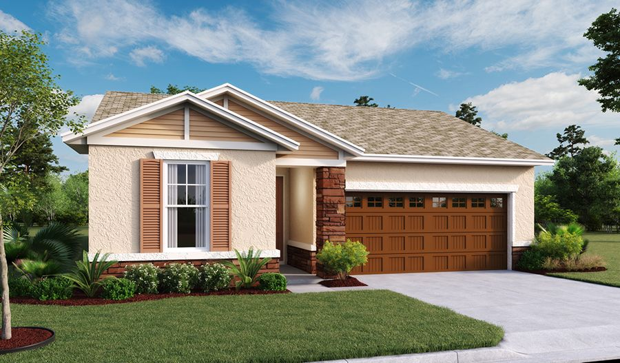 Exterior featured in the Larimar By Richmond American Homes in Lakeland-Winter Haven, FL