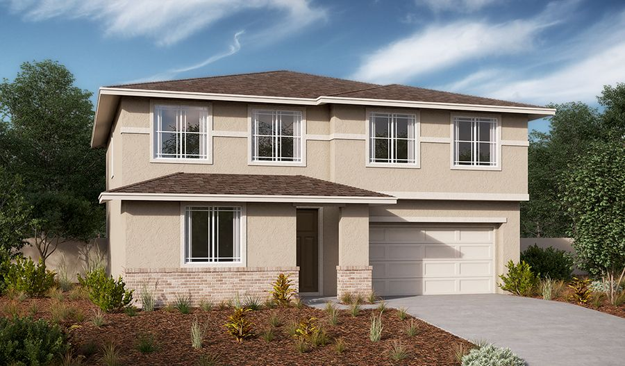 Exterior featured in the Tourmaline By Richmond American Homes in Sacramento, CA