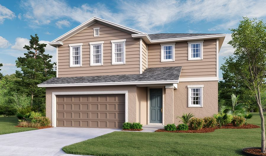 Exterior featured in the Coral By Richmond American Homes in Daytona Beach, FL