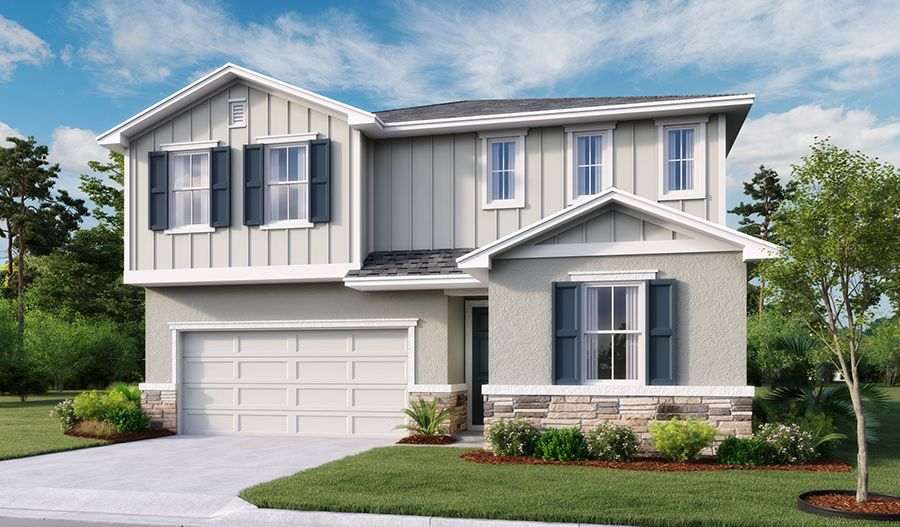 Exterior featured in the Moonstone By Richmond American Homes in Lakeland-Winter Haven, FL