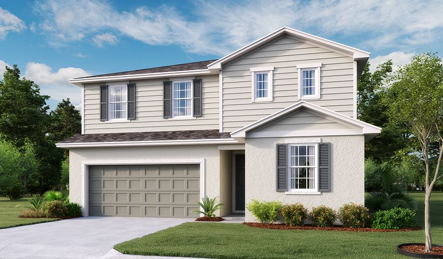 Exterior featured in the Pearl By Richmond American Homes in Lakeland-Winter Haven, FL