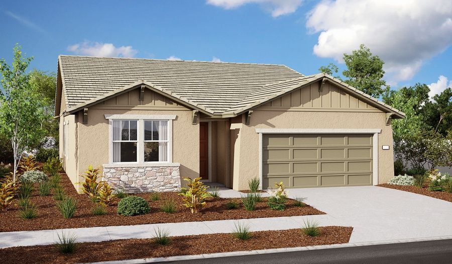 Exterior featured in the Alan II By Richmond American Homes in Sacramento, CA