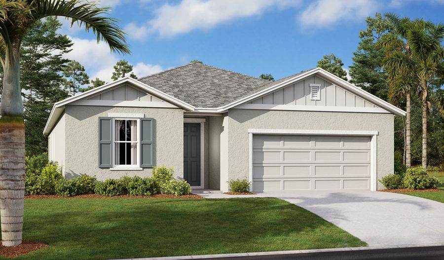 Exterior featured in the Slate By Richmond American Homes in Lakeland-Winter Haven, FL