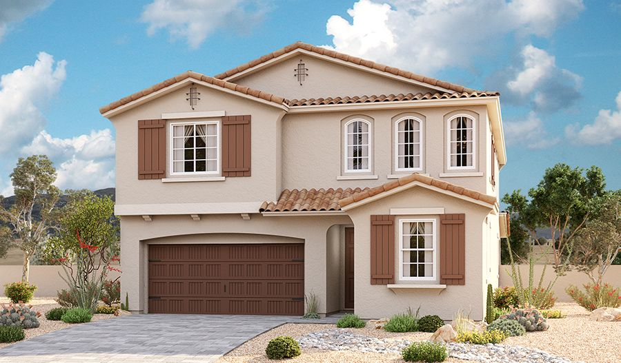 Exterior featured in the Moonstone By Richmond American Homes in Phoenix-Mesa, AZ