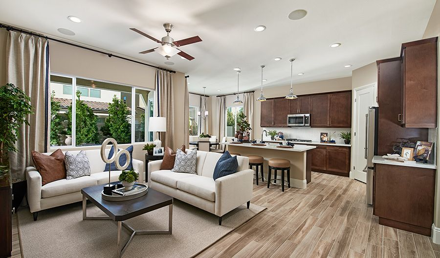 Living Area featured in the Alan II By Richmond American Homes in Riverside-San Bernardino, CA