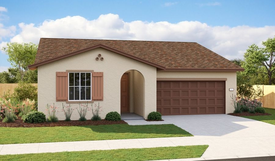 Exterior featured in the Onyx By Richmond American Homes in Sacramento, CA
