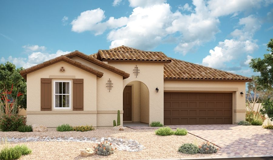 Exterior featured in the Celeste By Richmond American Homes in Phoenix-Mesa, AZ