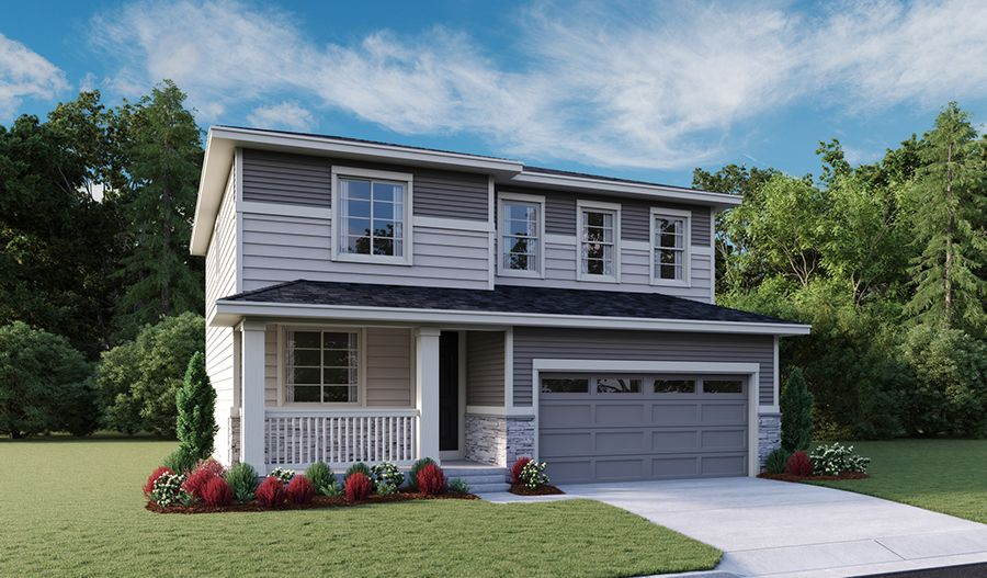 Exterior featured in the Lapis By Richmond American Homes in Denver, CO