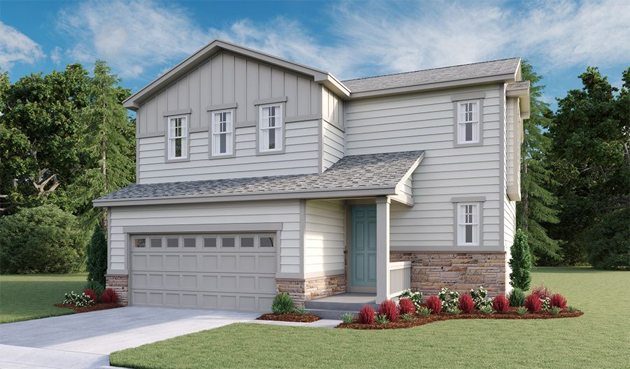 Exterior featured in the Coral By Richmond American Homes in Denver, CO