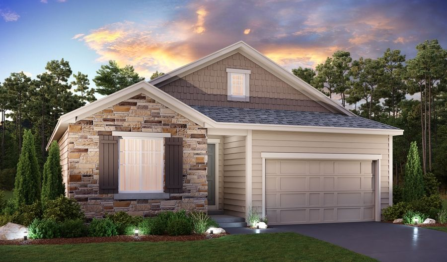 Exterior featured in the Alcott By Richmond American Homes in Denver, CO