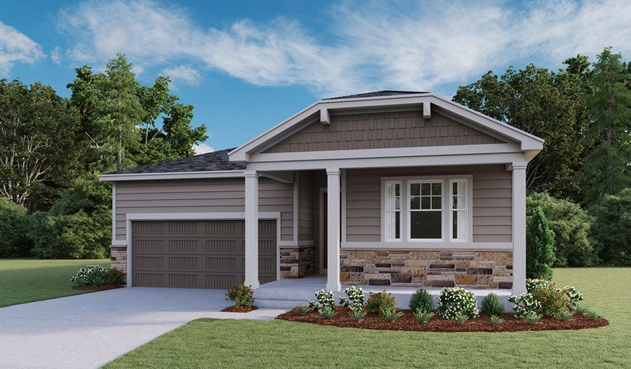 Exterior featured in the Amethyst By Richmond American Homes in Denver, CO