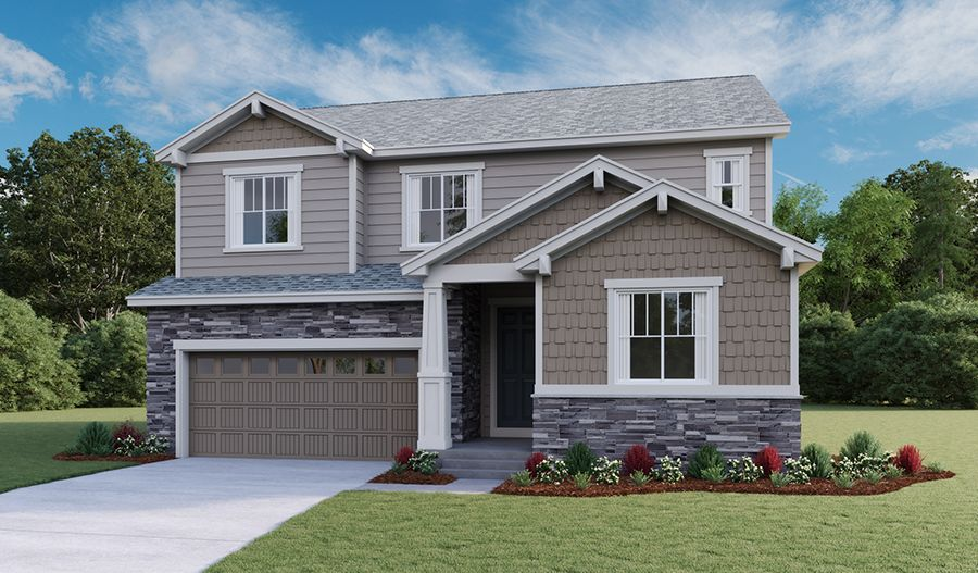 Exterior featured in the Hopewell By Richmond American Homes in Denver, CO