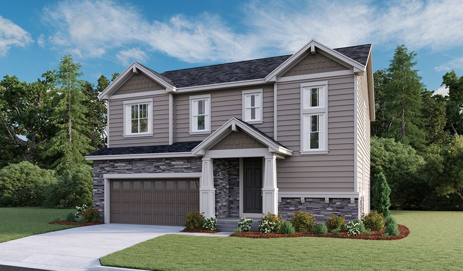 Exterior featured in the Bedford By Richmond American Homes in Denver, CO