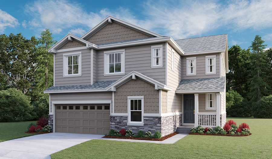 Exterior featured in the Yorktown By Richmond American Homes in Denver, CO