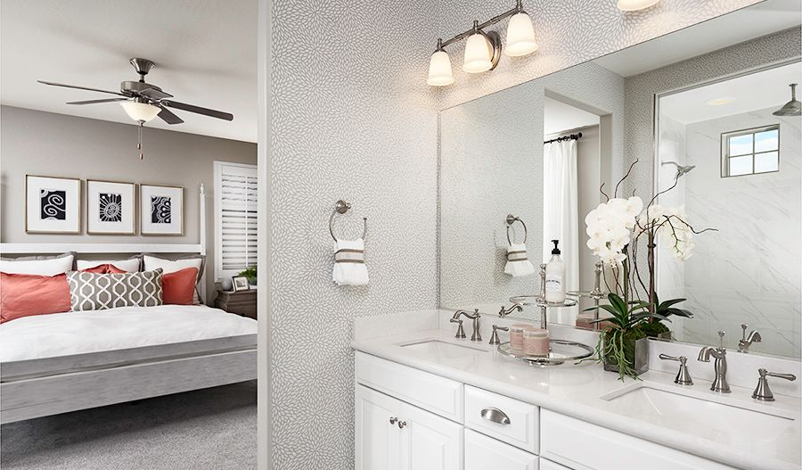 Bathroom featured in the Dogwood By Richmond American Homes in Las Vegas, NV