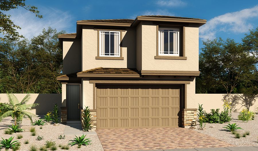 Exterior featured in the Elbert By Richmond American Homes in Las Vegas, NV
