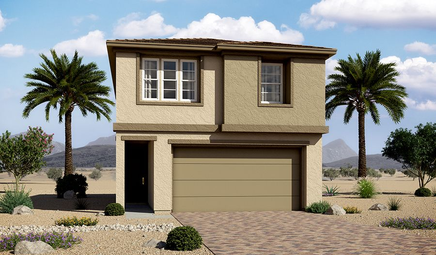 Exterior featured in the Everette By Richmond American Homes in Las Vegas, NV