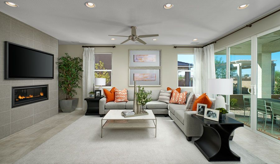 Living Area featured in the Hibiscus By Richmond American Homes in Las Vegas, NV