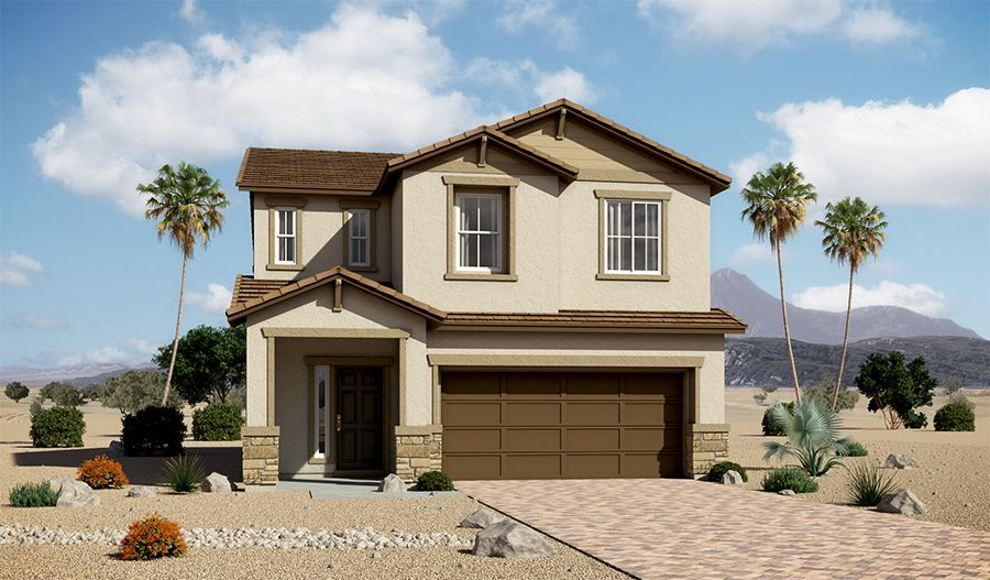 Exterior featured in the Lawson By Richmond American Homes in Las Vegas, NV