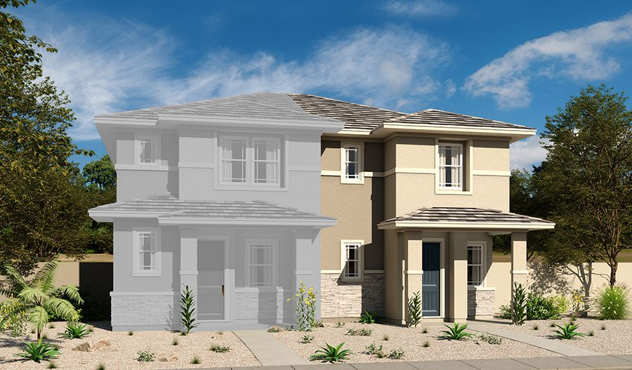 Exterior featured in the Chicago By Richmond American Homes in Las Vegas, NV