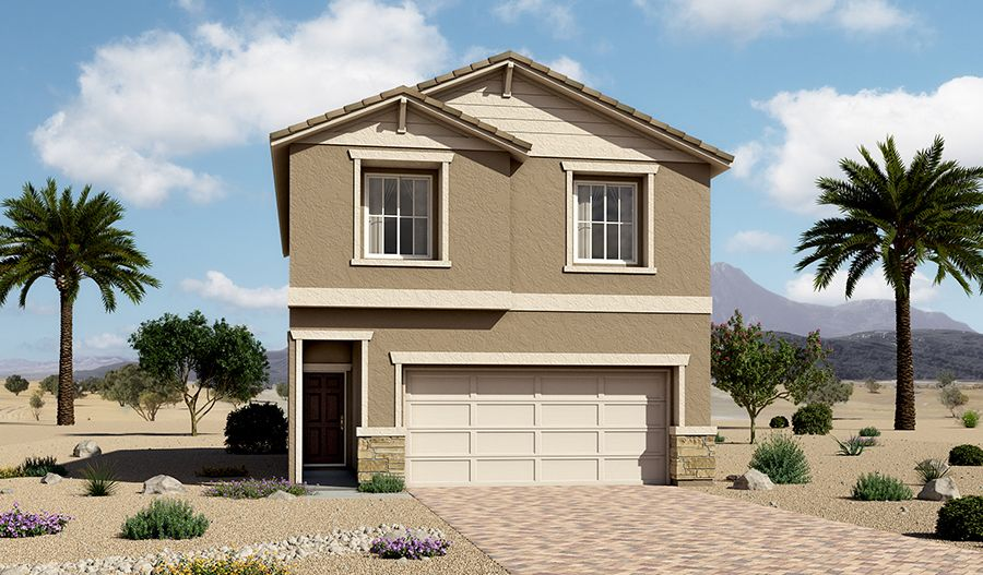 Exterior featured in the Lantana By Richmond American Homes in Las Vegas, NV