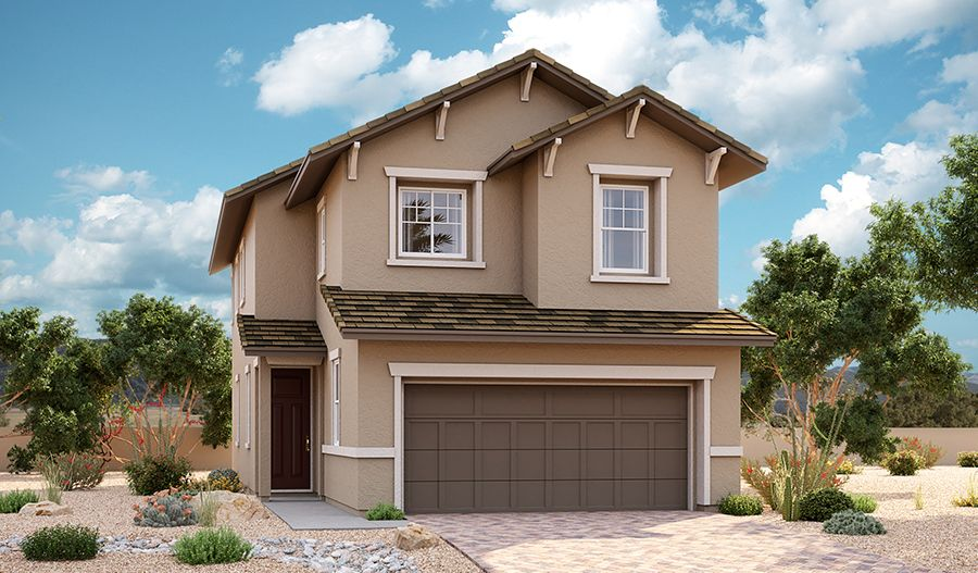 Exterior featured in the Oleander By Richmond American Homes in Las Vegas, NV