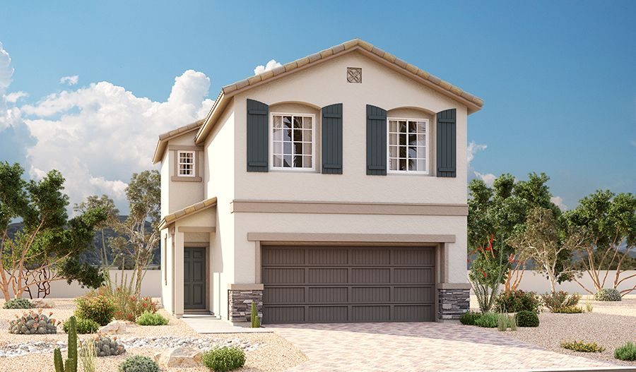 Exterior featured in the Alder By Richmond American Homes in Las Vegas, NV