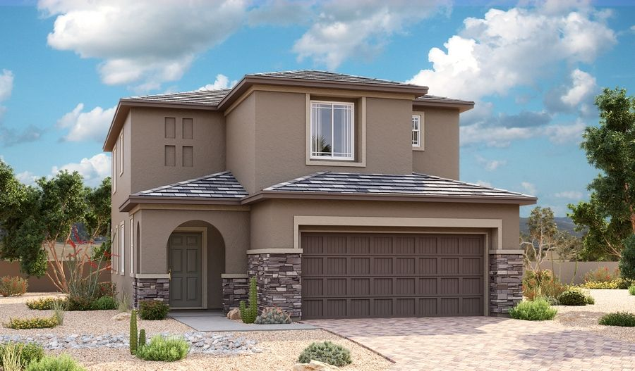 Exterior featured in the Dogwood By Richmond American Homes in Las Vegas, NV