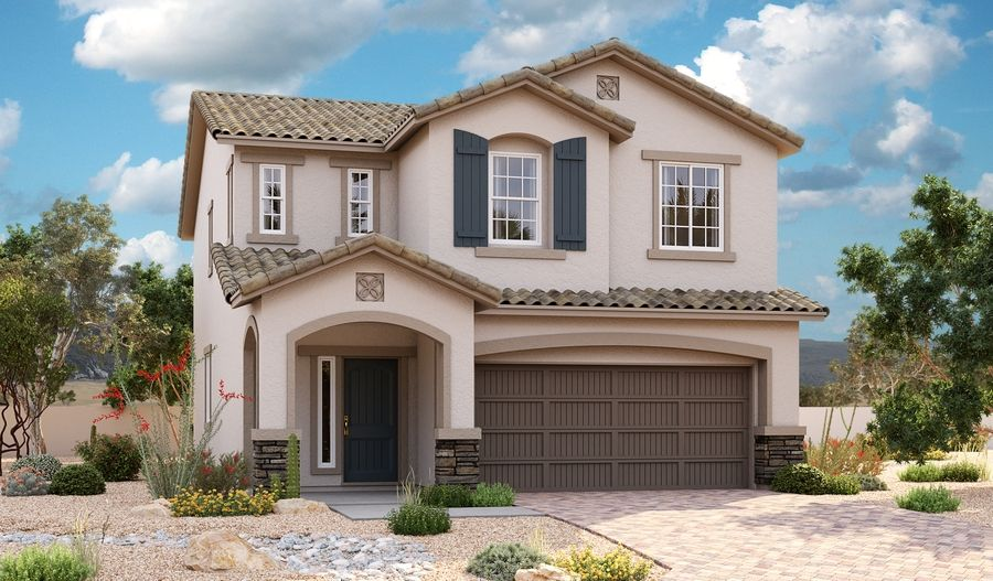 Exterior featured in the Birch By Richmond American Homes in Las Vegas, NV