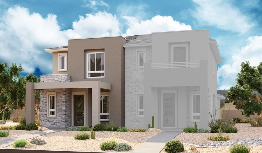 Exterior featured in the Boston By Richmond American Homes in Las Vegas, NV