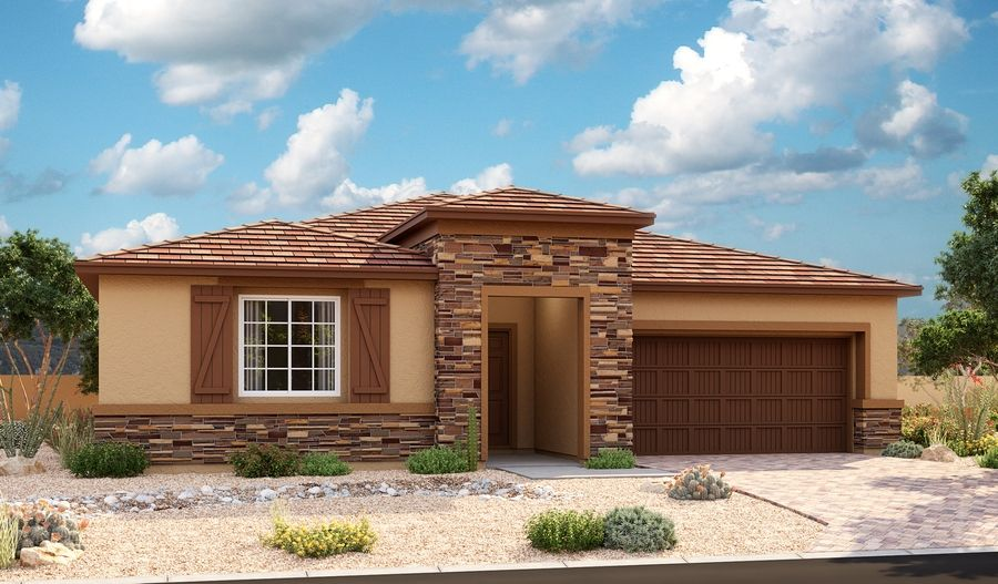 Exterior featured in the Timothy By Richmond American Homes in Las Vegas, NV