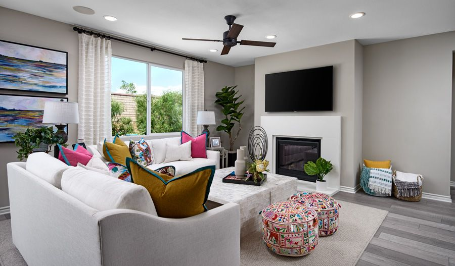 Living Area featured in the Timothy By Richmond American Homes in Riverside-San Bernardino, CA