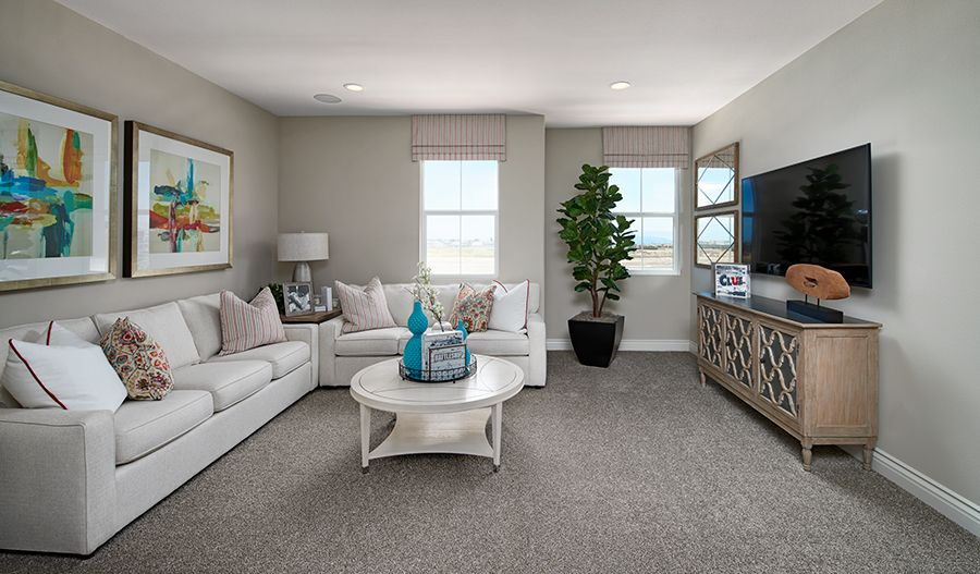 Living Area featured in the Hemingway By Richmond American Homes in Riverside-San Bernardino, CA