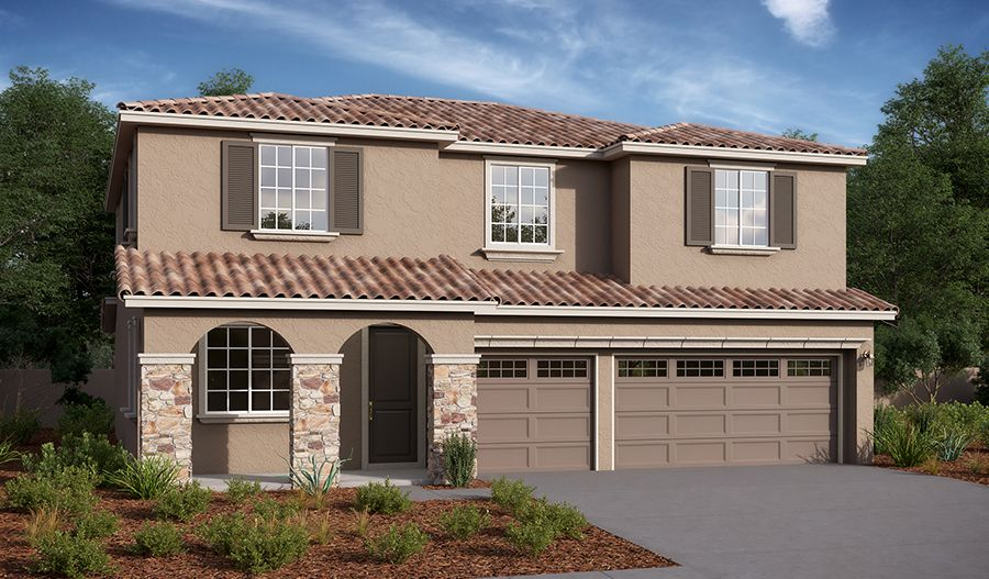 Exterior featured in the Teagan By Richmond American Homes in Riverside-San Bernardino, CA