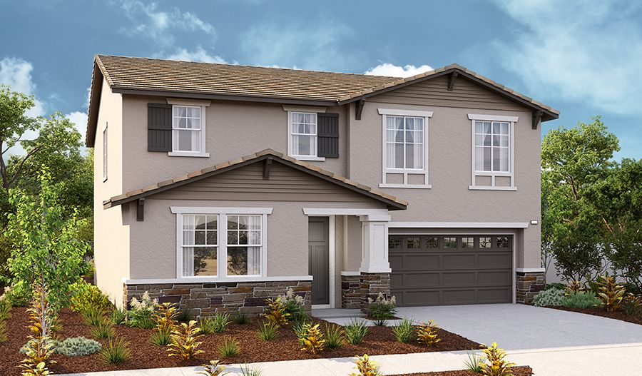 Exterior featured in the Tourmaline By Richmond American Homes in Riverside-San Bernardino, CA