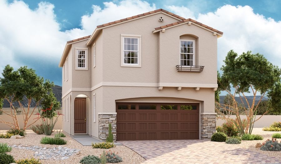 Exterior featured in the Boxwood By Richmond American Homes in Las Vegas, NV