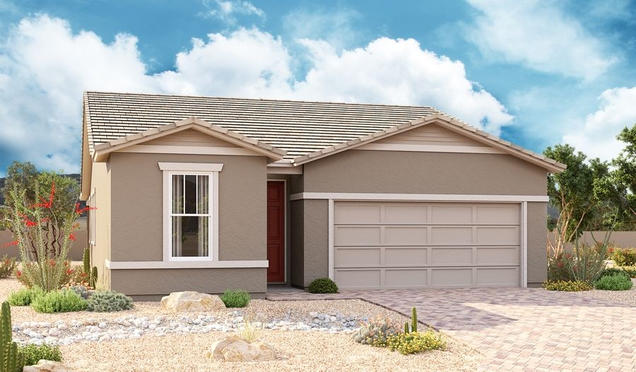 Exterior featured in the Sunstone By Richmond American Homes in Phoenix-Mesa, AZ