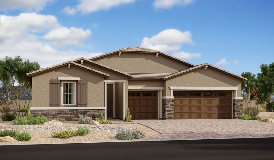 Exterior featured in the Darius By Richmond American Homes in Phoenix-Mesa, AZ