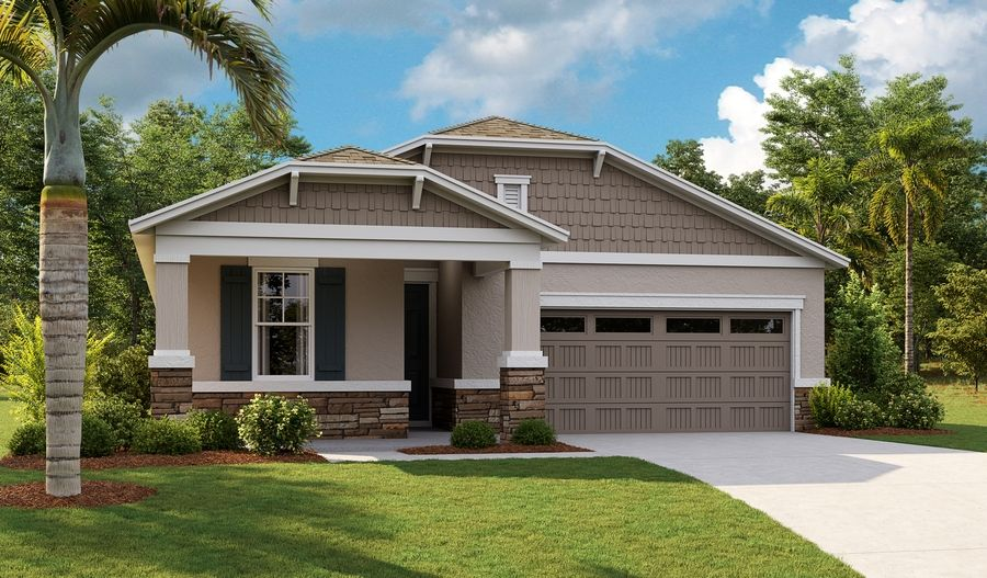 Exterior featured in the Emerald By Richmond American Homes in Orlando, FL