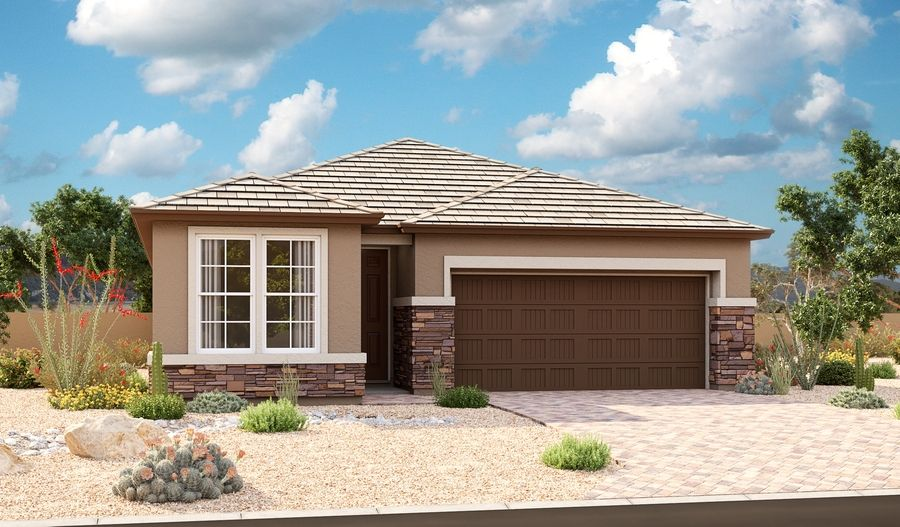 Exterior featured in the Emerald By Richmond American Homes in Phoenix-Mesa, AZ