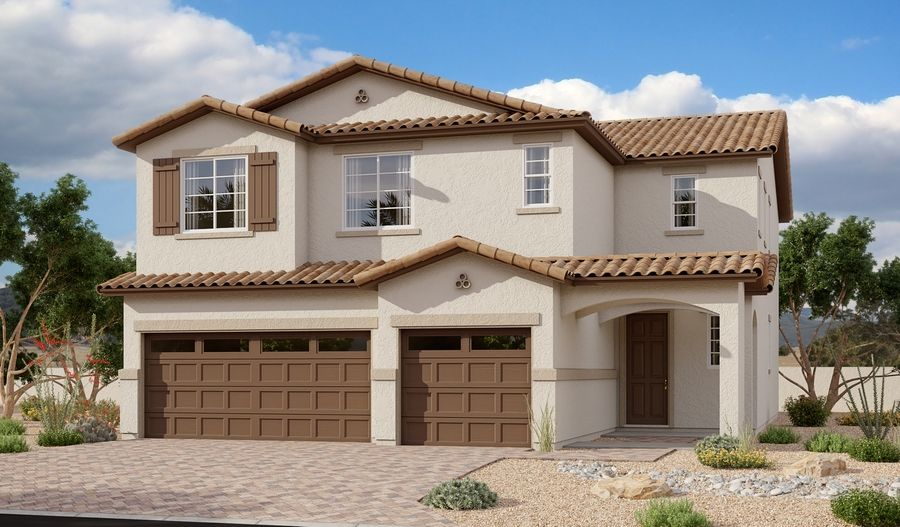Exterior featured in the Yorktown By Richmond American Homes in Phoenix-Mesa, AZ