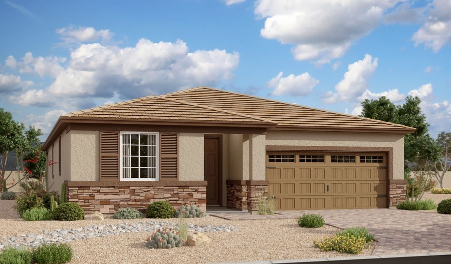 Exterior featured in the Raleigh By Richmond American Homes in Phoenix-Mesa, AZ