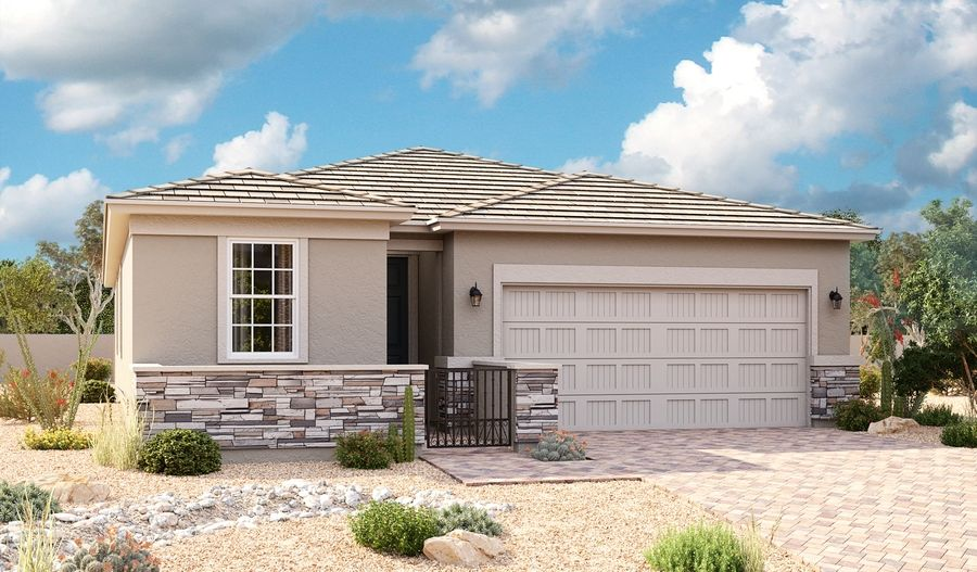 Exterior featured in the Peridot By Richmond American Homes in Phoenix-Mesa, AZ