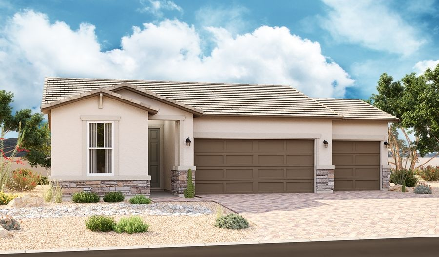 Exterior featured in the Larimar By Richmond American Homes in Phoenix-Mesa, AZ