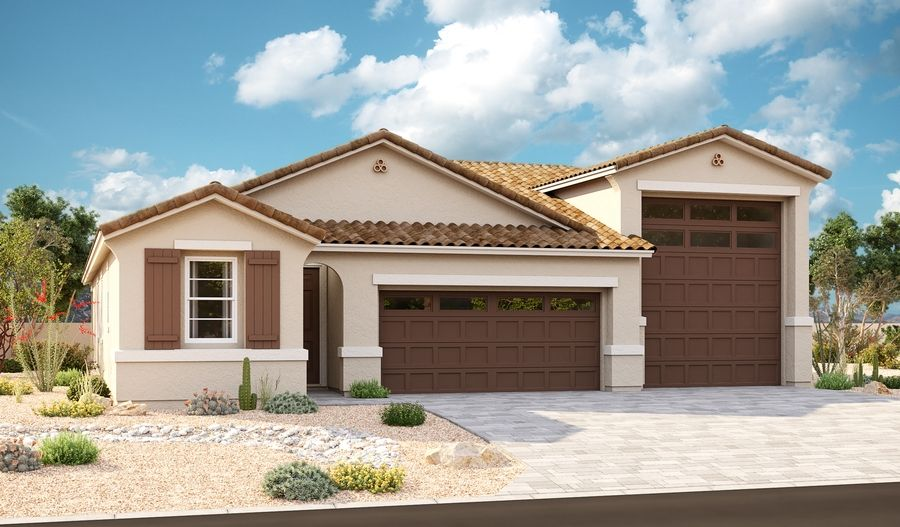 Exterior featured in the Bronze By Richmond American Homes in Phoenix-Mesa, AZ