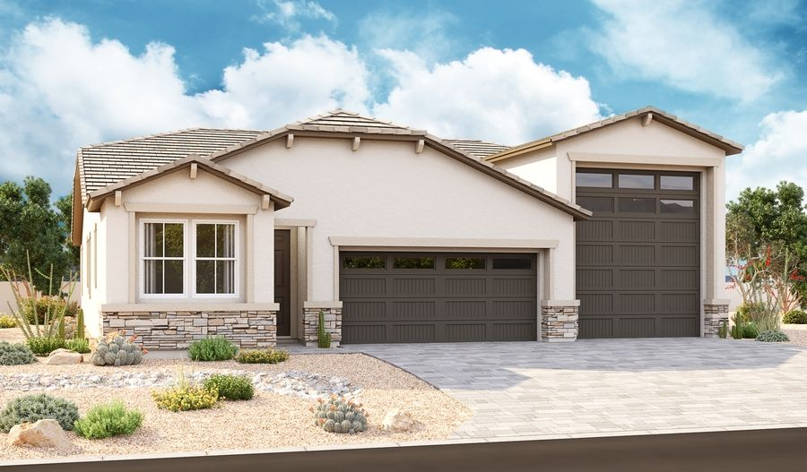 Exterior featured in the Pewter By Richmond American Homes in Phoenix-Mesa, AZ
