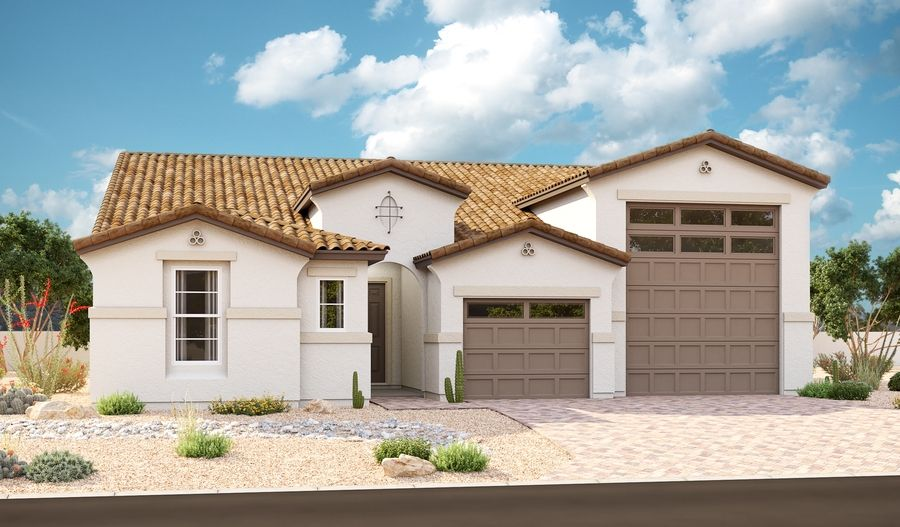 Exterior featured in the Deacon By Richmond American Homes in Phoenix-Mesa, AZ