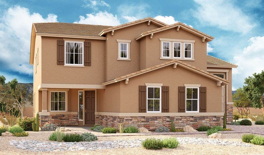 Exterior featured in the Pearce By Richmond American Homes in Phoenix-Mesa, AZ
