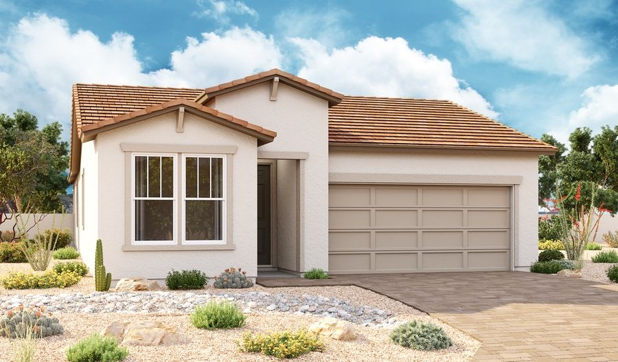 Exterior featured in the Sapphire By Richmond American Homes in Phoenix-Mesa, AZ